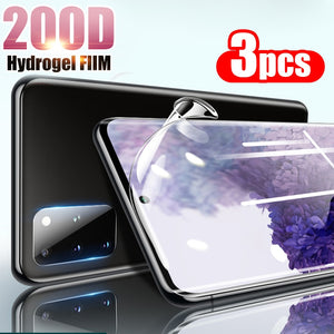 3Pcs 200D Hydrogel Full Cover Glue Soft Screen Protector Clear Film For Samsung Galaxy S20 Series