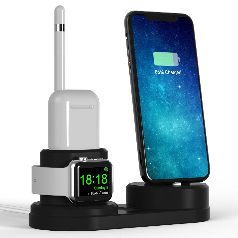 4 in 1 Charging Dock Station For Apple Devices iPhone Watch Airpods Pencil