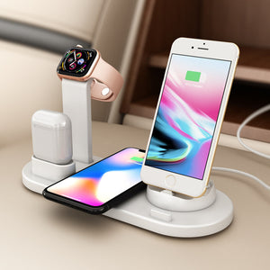 6 in 1 Multifunction Wireless Charger Dock Holder For iWatch iPhone 11 Pro XS XR