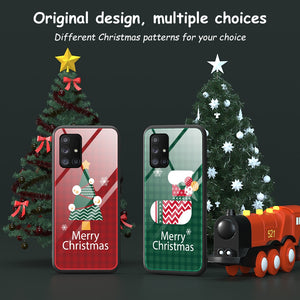 Merry Christmas Tempered Glass Case For Samsung Galaxy S20 Ultra & Note 20 Ultra