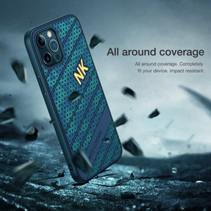 Smooth Shockproof Silicone PC Back Cover 3D Honeycomb Texture Case for iPhone 12 Pro Max | iPhone 12 Pro | iPhone 12 Mini & IPhone 12