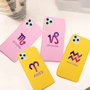Zodiac Sign Soft Silicone Phone Case For iPhone 11 Series