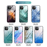 Luxury Marble Tempered Glass Hard Back Cover Ultra-thin Case For iPhone 12 Series
