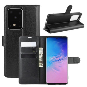 Luxury Wallet Flip Leather Case with Stand for Samsung Galaxy S20 Series
