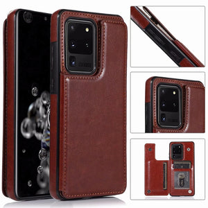 PU Leather Waterproof Heavy Duty Protection Wallet Case for Samsung Galaxy S20 Series
