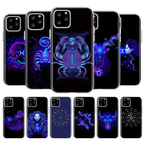 The Zodiac Signs Soft Silicone TPU Transparent Phone Case for Apple iPhone 11 Pro Max 1