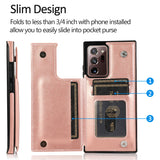 Luxury Slim Fit Leather Wallet Cardholder Case For Samsung Galaxy S20 Note 20 S20 FE