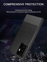 Luxury Carbon Fiber Soft Silicone Back Cover Case For Samsung S20 | Note 20 | S10 | Note 10 series