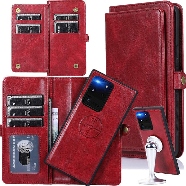 Removal Magnetic Stand Flip Wallet Leather Case for Samsung S20 Ultra
