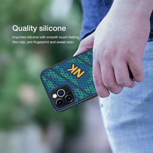 Luxury 3D Honeycomb Texture Anti fingerprint Silicone Case for iPhone 12 Series