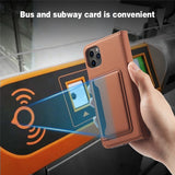 Leather Card Holder Flip Wallet Case Cover For iPhone 12 Series