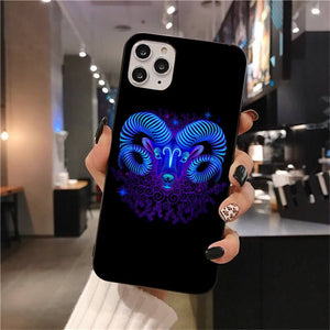 Zodiac Signs Waterproof Cartoon Phone Case for iPhone 12 & 11 Series