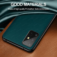 Luxury Leather Full Protection Soft Back Cover for Samsung Galaxy S20 Series