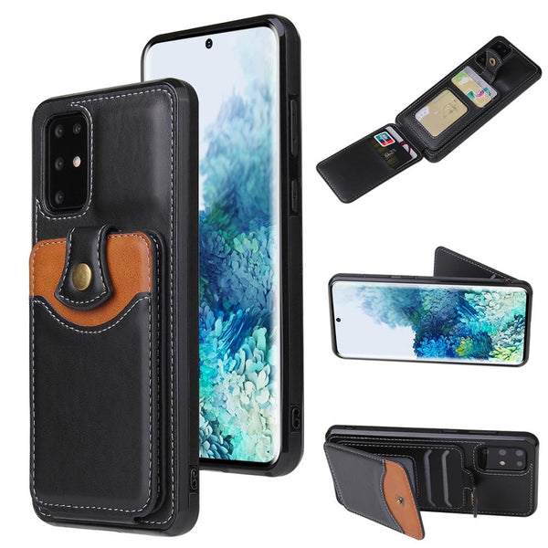Luxury Leather Card Slot Wallet Kickstand Phone Case Cover for Samsung Galaxy S20 & Note 20 Series