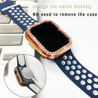 Luxury Bling Hard Case for Apple Watch Series 5 4 3 2 1 Diamond Protective Cover Shell for iWatch 38 40 42 44 mm Lady Accessorie|Watch Cases