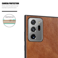 Plain PU Leather Case Silicone Back Cover Case For Samsung Galaxy S20 Series & Note 20 Series
