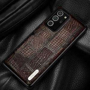 Genuine Leather Retro Splice Waterproof 100% Handmade Case For Samsung Galaxy Note 20 S20 Series