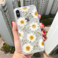 Pressed Dry Real Flower Clear Soft TPU Case for Galaxy S20 Note 20 Series