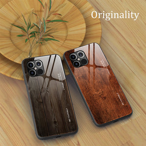 Luxury Wood Grain Phone Case For iPhone 11 12 Pro Max Slim Glass Cover Case for iPhone 11 Pro 12 Pro 12 Max 12 11 Pro Max Coque