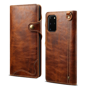 Genuine Leather Protective Wallet Flip Phone Case for Samsung Galaxy S20 Series & Note 20 Series