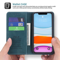 Luxury Retro Magnetic Flip Leather Wallet Case For iPhone 11 Series