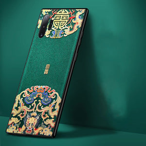 Embossed Leather Back Cover For Samsung Galaxy Note 10 Plus