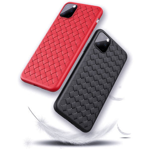 Fashion Woven Pattern Slim Leather Case For iPhone 12 & 11 Series