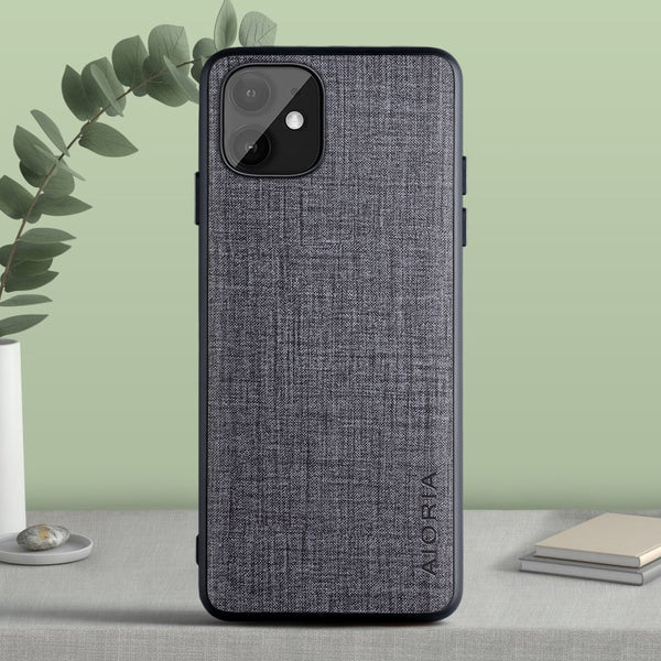 Fashion Real Fabric Soft TPU & Hard PC Case for iPhone 11 Series