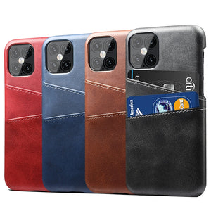 PU Leather Case For iPhone 12 Pro Max luxury Back Cover Card Holder For iPhone 12 11 Pro Max X XS 6 6S 7 8 Plus Leather Cases