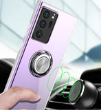 Transparent Ring Holder Case Shockproof Back Cover for Samsung Galaxy Note 20 Series