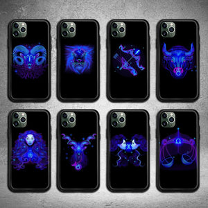 Zodiac Signs Waterproof Cartoon Phone Case for iPhone 12 Pro Max