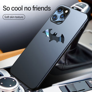 Ultra-thin Metal Batman Matte PC Phone Case For iPhone 12 11 Pro Max SE XSmax XR XS X 8 7 6 Plus Magnetic Protection Cover Coque