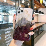 Luxury Gold Foil TPU Soft Silicon Case For iPhone 11 Series