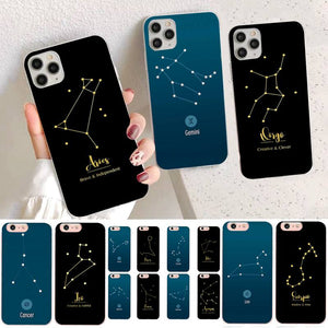 12 Constellations Zodiac Signs Phone Case for iPhone 12 Pro Max  and iPhone 12 Mini