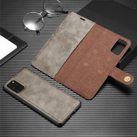 Luxury Leather Wallet Flip Car Holder Protective Case For Samsung Galaxy S20 Series