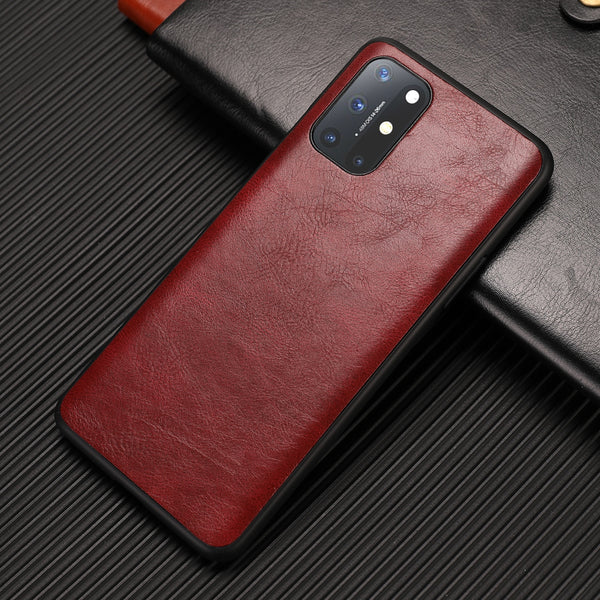 Luxury PU Leather Soft Silicone All inclusive Shockproof Phone Case for OnePlus 8 Series