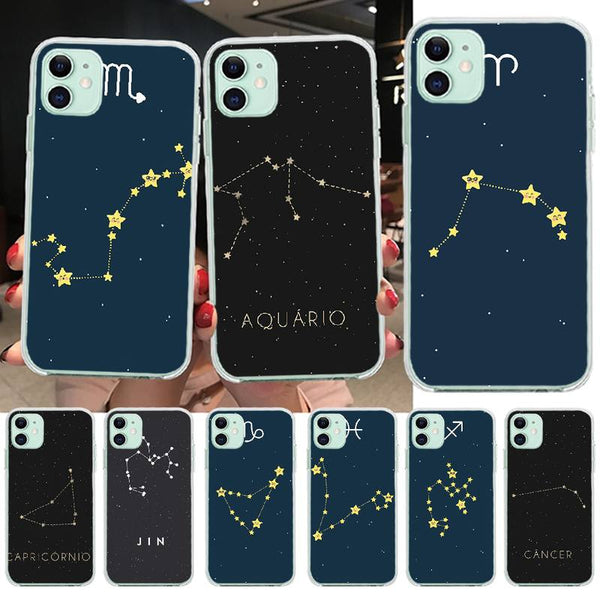 12 Constellations Zodiac Art Signs Phone Case for iPhone 11 & iPhone X Series