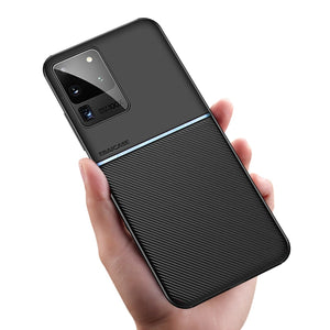 For Samsung S20 Plus Ultra Case Carbon Fiber Silicone Shockproof Cover For Samsung Galaxy Note 20 Ultra S10 S9 Plus S10E Case
