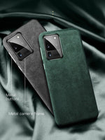 Fashion Luxury Artificial Leather Half-wrapped Case for Samsung Galaxy S20 Series