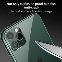 Luxury Ultra Thin Transparent Glass Heavy Duty Protection Case For iPhone 11 Series