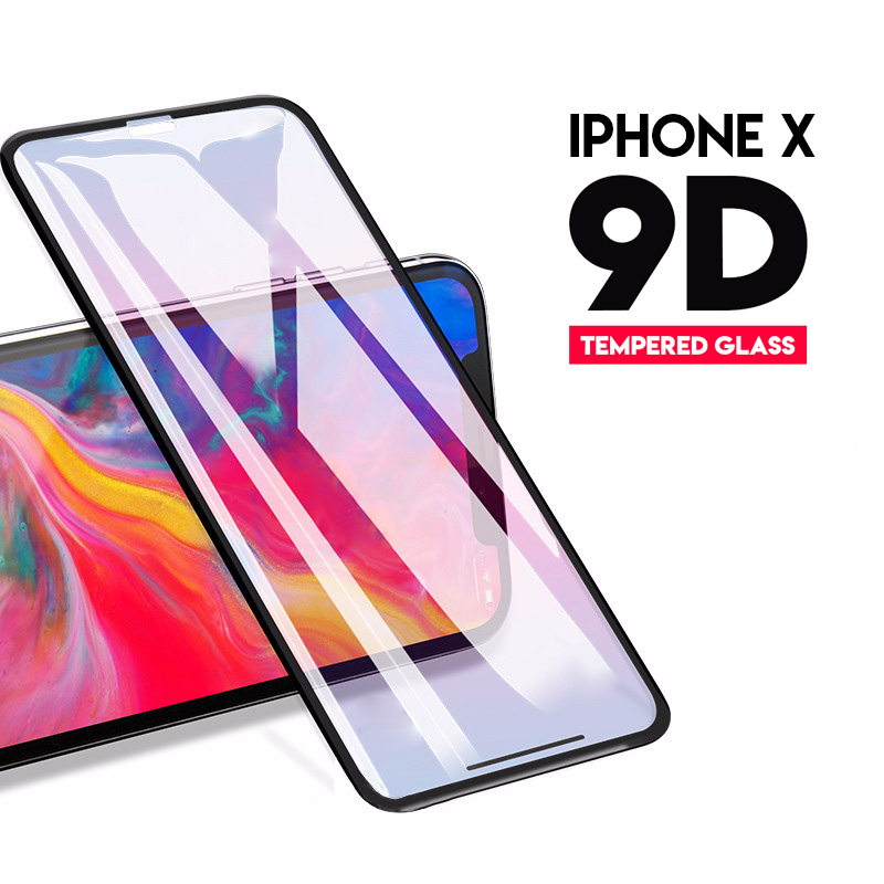 9D Tempered Glass For iPhone X 8 7 Glass 6s Plus