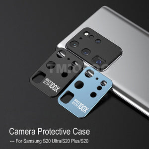Tempered Glass Film Metal Rear Lens Protection Ring Case for Galaxy S20 Series
