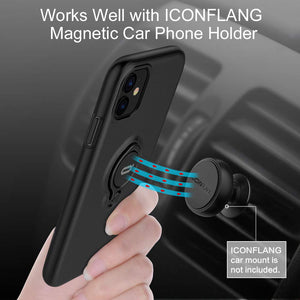 Anti Scratch Shockproof Case for iPhone 11 Pro Max X XS XR XS MAX Cover with 360 Degree Rotation Ring Kickstand Car Magnetic