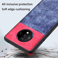 Soft Bumper All Inclusive Cowboy Cloth Cover Anti Shock Case for Oneplus 7T 7T Pro