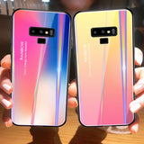 Rainbow Tempered Glass Back Cover for Note 9