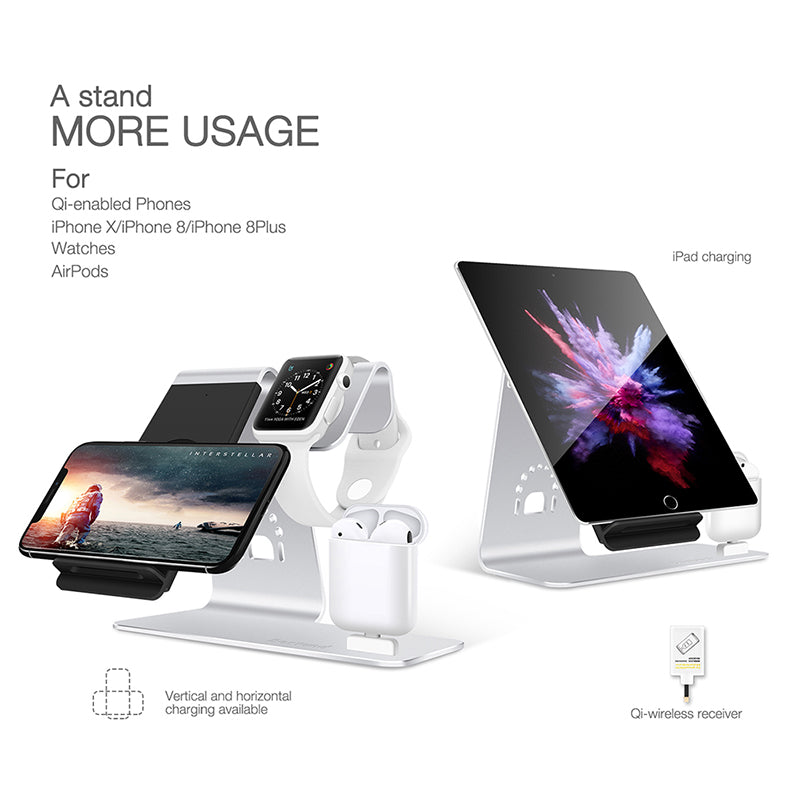 the latest f8015 e4745 3 in 1 iWatch Stand Airpods iPhone Charger Dock