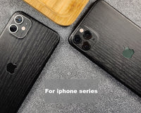 Black Wood Grain Sticker Wrap Skins Paste Back Membrane Protective Phone For iPhone 11 11 Pro Max