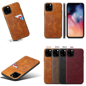 Luxury Leather Card Holder Case for iPhone 11 Pro Max