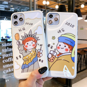 Cartoon Cute Lucky New All Wrapped Silicone Soft Case Back Cover For IPhone 11 Pro XS Max X XR