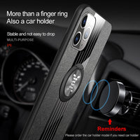 Cloth Finger Ring Stand Magnet Heavy Duty Protection Cover Case For iPhone 11 Pro Max XS XR X